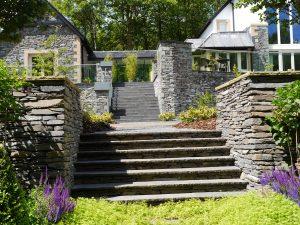 Stairway in to sunken garden